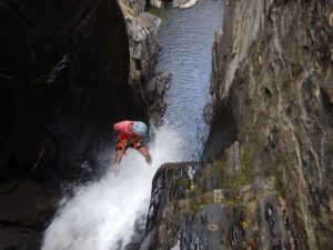 Knotty Canyon - Salam over the last rappel