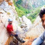 Nagalapuram Canyoneering Above rappel