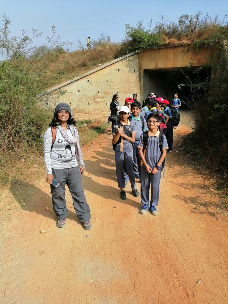 Ekya School students trekking