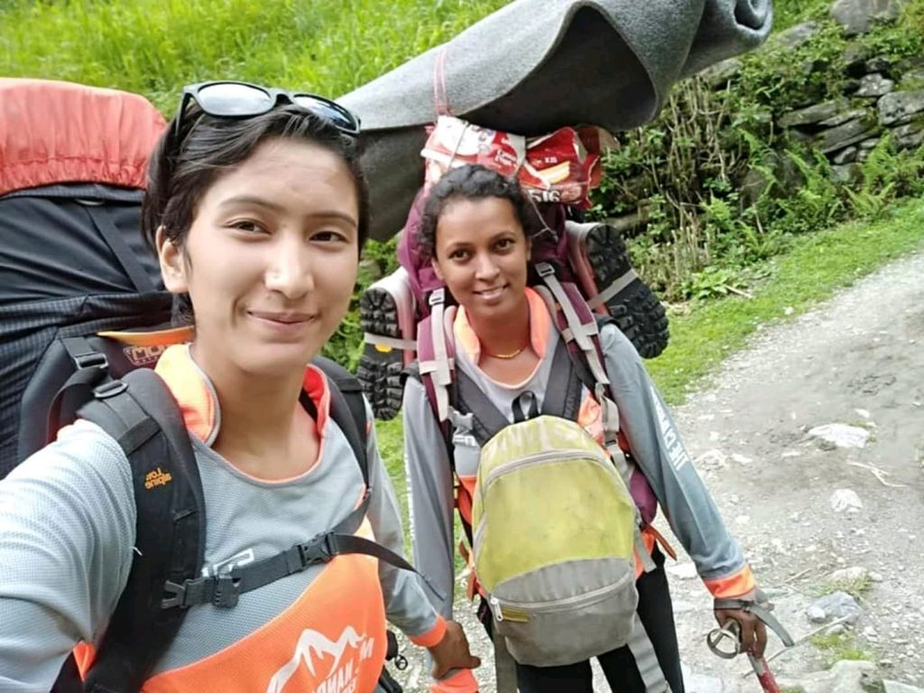Starting the trek - Ashraya Prakash