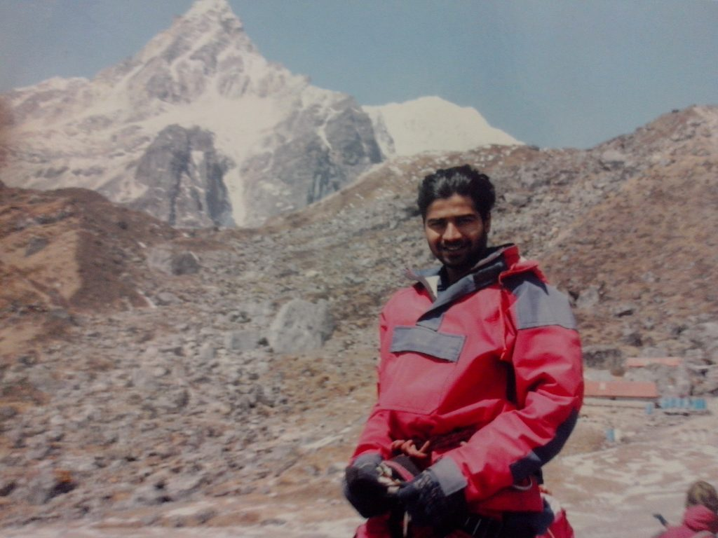 Mount Kailash in the background