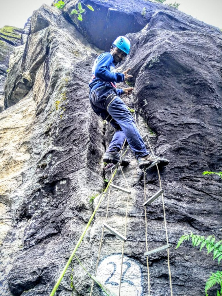 vineel kanth climbing caving ladder