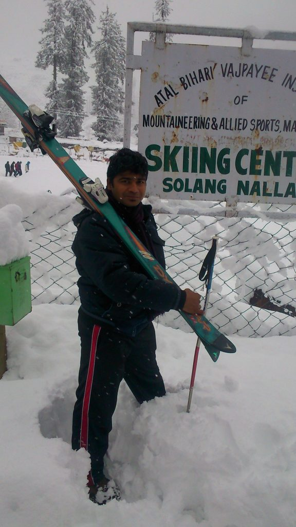 vineel kanth skiis and snow