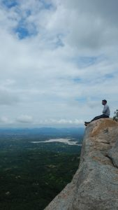 Sumit Pareek @ summit of Billikal Rangaswamy Betta.