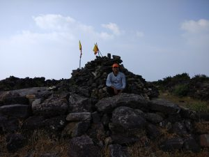 Sumit Pareek @ summit of Kumara Parvatha