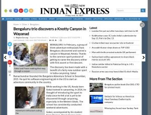 Page 1 of 3 - Knotty Canyon - The New Indian Express Article on BASCOOL