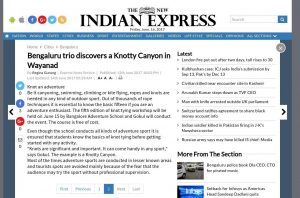 Page 3 of 3 - Knotty Canyon - The New Indian Express Article on BASCOOL