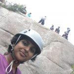 Kausalya Trainer - During Rappelling Training