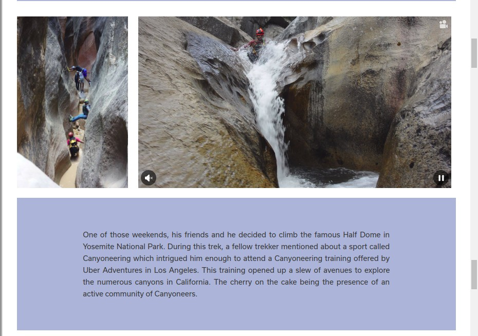 Page 2 of 5 - Woovly Feature on Gokul Ramachandran - Canyoning Instructor at BASCOOL