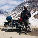 Vijay Nandani - At Tawang - Motorcycle Solo trip